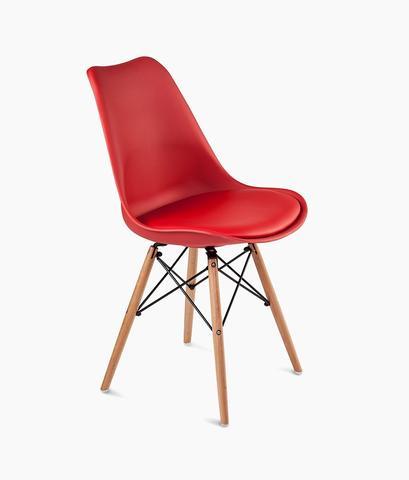 صندلی قرمز پایه مثلثی